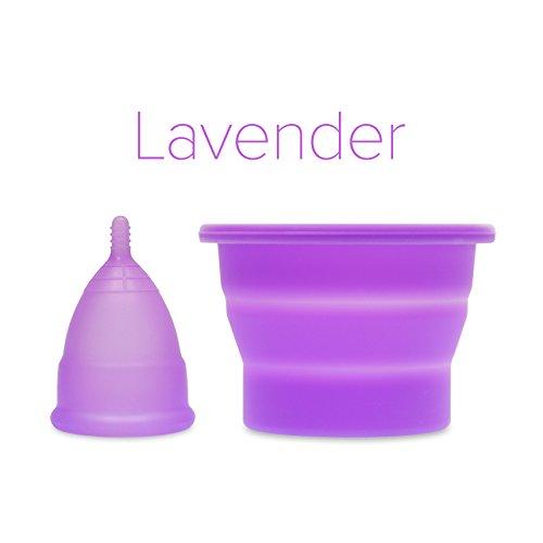Anigan EvaCup (fabricado en Estados Unidos – Registerado por la FDA) taza menstrual + taza plegable esterilizadora