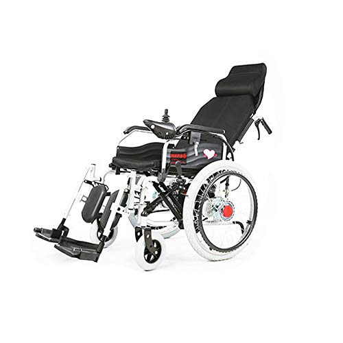 GYH Silla de Ruedas eléctrica, sillas de Ruedas Plegables discapacitadas para Ancianos,...