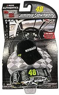 2017 Wave 5 NASCAR AUTHENTICS #48 JIMMIE JOHNSON LOWES Kobalt 1/64 1:64 SCALE DIECAST RACE CAR With Bonus Mini Hat Magnet
