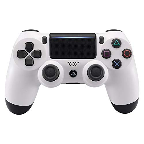 eXtremeRate Solid White Replacement Front Housing Shell for Playstation 4 PS4 Pro Slim JDM-040 JDM-050 JDM-055 Controller - Controller NOT Included
