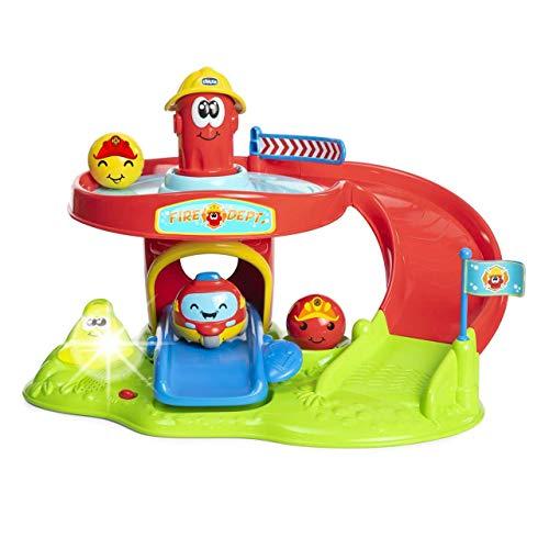 Chicco Rolling Wheels Spinner , Pista De Coches Para Vehículos Turbo Ball De Chicco, Con Diferentes Toboganes, Ideal Niños Pequeños