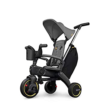 Doona Liki Trike S3 - Premium Foldable Push Trike and Kid s Tricycle for Ages 10 Months to 3 Years Grey Hound