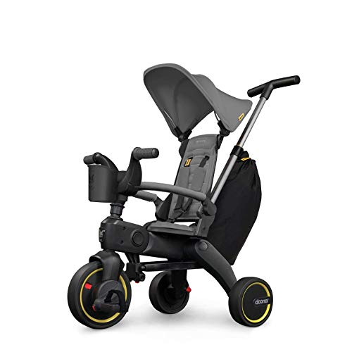 Doona Liki Trike S3 - Premium Foldable Push Trike and Kid s Tricycle for Ages 10 Months to 3 Years, Grey Hound