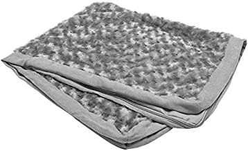 Furhaven Pet Dog Bed Cover - Deluxe Mat Ultra Plush Faux Fur Traditional Foam Mattress Pet Bed Replacement Cover for Dogs and Cats, Gray, Jumbo