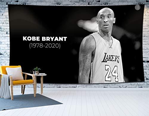 NMABY Lakers de Baloncesto Equipo de Baloncesto Tapicería Colgante, Cartel Colgante de la Pared de Arte Colorido para la Sala de Estar y Decoraciones de Dormitorio 59x79 p black1