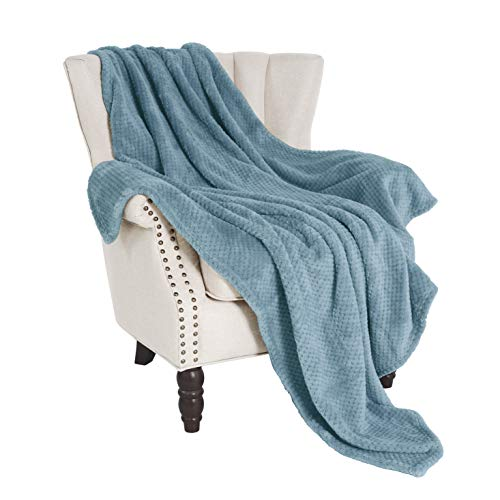Exclusivo Mezcla Waffle Flannel Fleece Velvet Plush Large Throw Blanket– 50