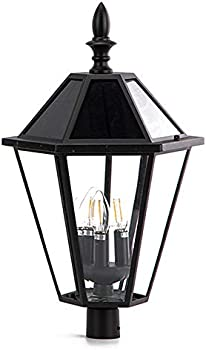 Lutec 12513LE4-SL-Head LED Post Solar Light