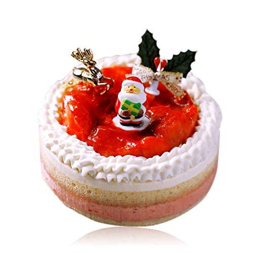 【Morin クリスマスケーキ 7cm x 12cm】ショートケーキ ホール Xmasケーキ 予約 イチゴ 苺 いちご チーズ マスカルポーネ サンタ ケーキ デザート ギフト スイーツ プレゼント ( 2名 ~4名)