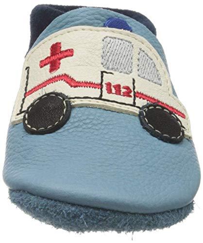 Pololo Unisex-Kinder Rettungswagen Niedrige Hausschuhe, Blau (Hellblau 700), 28/29 EU