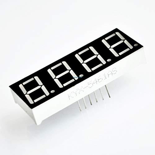 Bester Preis 10 teile/los 0,56 Zoll 7 Sieben Segment 4 Ziffern Rote Uhr Led-anzeige Gemeinsame Anodenzeit 12 Pins