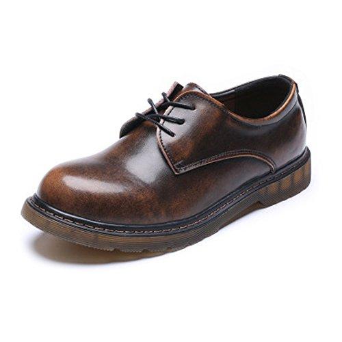 Zapatos Calzado de Hombre Bota de Tobillo con Suela Baja de Cuero Genuino Genuin para Caballeros Suaves Los Zapatos de Cuero