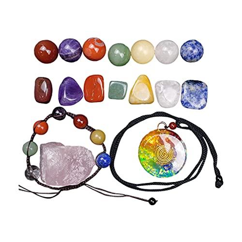 Milageto Piedra de Cristal Pulida Amatista Piedra en Bruto Colección de Piedras Preciosas de Equilibrio