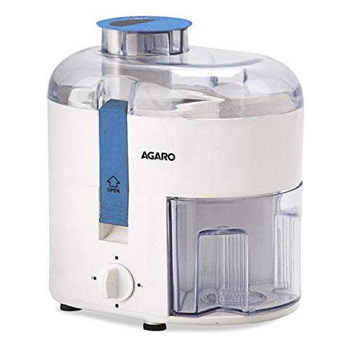 AGARO 33391 Velocity 350-Watt Juicer Extractor with Centrifugal Technology (White & Blue)