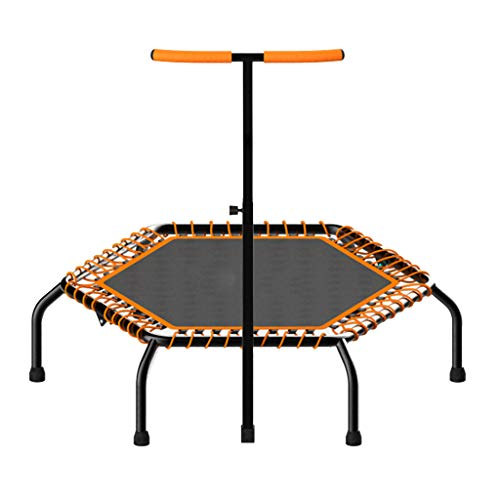 Folding Adult Fitness Trampoline, Sports Trampoline With Adjustable Armrests, Used Indoors, Outdoors, And Gardens. The Maximum Load Is 450KG, Which Is An Interesting Way To Lose Weight.