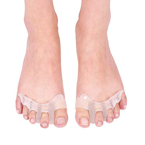 Separadores de dedos del pie, corrector de gel para juanetes, Hallux valgus ayuda férula para alivio del dolor de pies cansados para mujeres y hombres 1 par ⭐