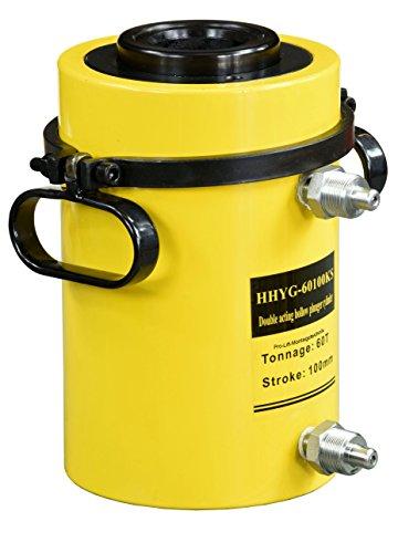 Pro-Lift-Gereedschappen 60 t holle kolf hydraulische cilinder zuigerslag 100 mm hydraulische pomp werkcilinder 60000 kg drukkracht heavy dual tientallen 60t