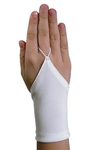 YES Kurze Schlichte Fingerlose Kommunionhandschuhe Handschuhe zur Kommunion KA-1
