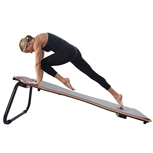Stamina Juvo Board - Balance Board - Slant Board for Yoga, Pilates, Stand Up Paddle, Surf Training & Balance Training with Workout Videos Included