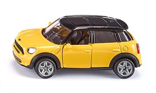 Siku 1454, MINI Countryman, Metall/Kunststoff, gelb/schwarz, Öffenbare Türen