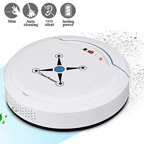 QYLT Aspirador de Robot, Robot de Limpieza Automático, Superfino, Succión Fuerte de 1500Pa, Sensor de Caída, Limpiador Automático de Pisos por Aspiración de Robot Inteligente (Blanco)