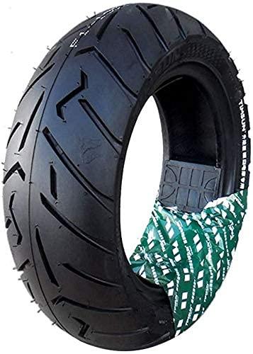 Neumáticos de scooter eléctrico, 130 / 70-10 Neumáticos de vacío antideslizantes resistentes al desgaste, Versión mejorada con patrón más profundo, Adecuado para accesorios de motocicletas eléctrica