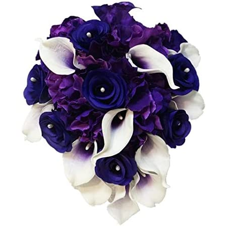 BOXED Real Touch Pure White Calla Lily Pumpkin Velvet Silk Hydrangea with Diamond Centers Boutonniere MATCHING Corsages