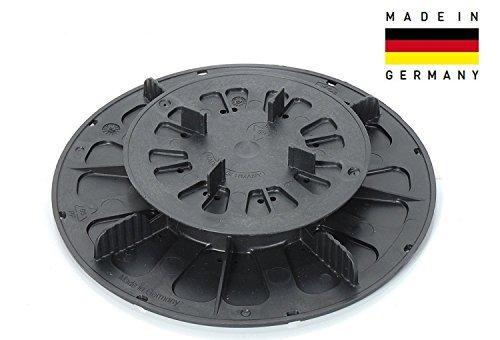 Piastra di appoggio, regolabile in altezza 11-15 mm, piedistallo, Supporto d'appoggio per pavimenti...