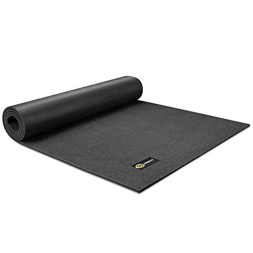 CAMBIVO Yoga Mat  Extra Long and Wide Exercise Mat 84'' x 30'' x 1/4 inch for Yoga Pilates Fitness Barefoot Workouts Home Gym Studio Black