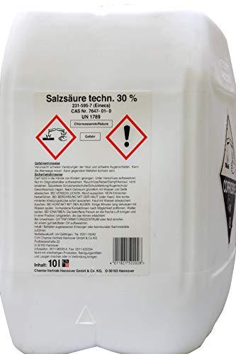 Acide chlorhydrique technique 30% 10l