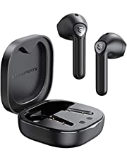 SOUNDPEATS słuchawki Bluetooth TrueAir2 słuchawki TWS Bluetooth V5.2 bezprzewodowe słuchawki douszne z Qualcomm QCC3040, podwójny mikrofon i redukcja szumów CVC, kodek aptX, Łącznie 25 godzin (czarny )