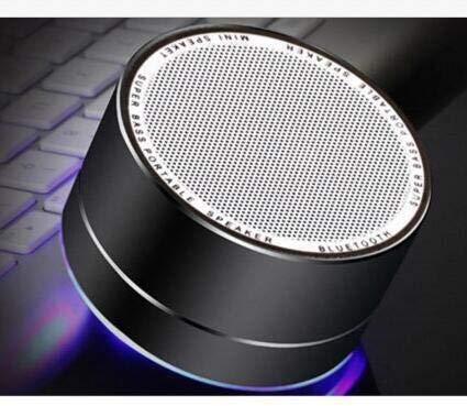 MGWA Altavoz inalámbrico Bluetooth portátil SUPER BASS STEREO Sound Travel Speaker para Smartphone Tablet (Negro) Adornos (Color: Negro)