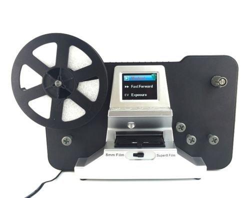 Winait - Escáner de película (5 y 3 pulgadas, 8 mm Super 8 Rollos Convertidor digital 1080P LCD de 2,4 pulgadas)