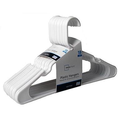 Mainstay 18-Pack Standard Plastic Hangers (White, 2 Pack)