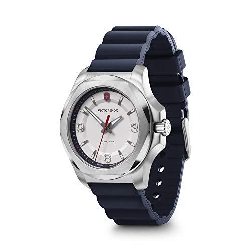 Victorinox I.N.O.X. V 241919 - Reloj para mujer con esfera blanca y correa de goma azul