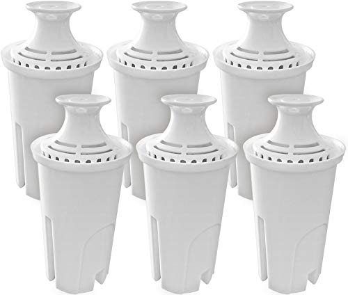 Fette Filter – Pack of 6 Water Replacement Filters Compatible with Standard Brita Water Pitchers