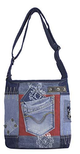 Sunsa Damen Tasche Umhängetasche, Canvas bag, Jeans/Denim Taschen, Hobo Schultertasche Damentaschen Vintage Crossbody Teenager Fashion sale