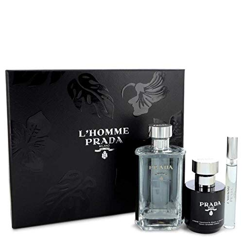 PRADA L HOMME 100ML EDT + DUSCHGEL 100ML EDT 10ML SPRAY + MINI