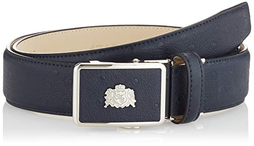 Anthoni Crown Ledergürtel Cintura, Blu Scuro, 115 Uomo