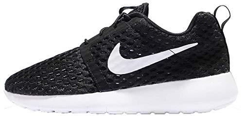 Nike Schuh Jungen Roshe One Flight Weight, Schwarz/Weiß, 3,5Y