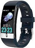 AMBM Moda E66 reloj inteligente ECG medición de temperatura ritmo cardíaco presión arterial oxígeno pulsera salud fitness pulsera inteligente banda exquisita/azul-azul