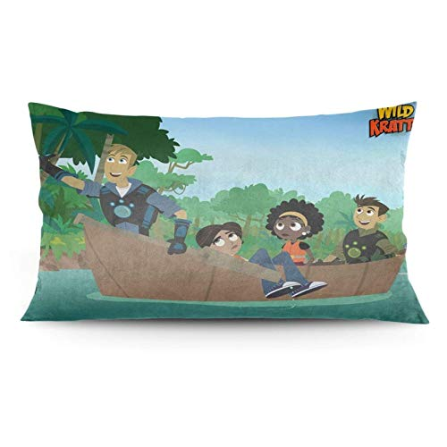 zhaoyang Wild Kratts - Funda de almohada, diseño de anime/colcha/cama/dormir/sofá (50 x 91 cm)