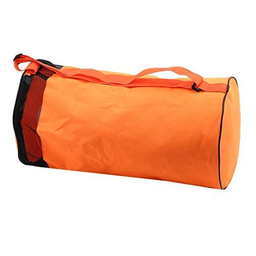 Anchang - Bolsa deportiva de malla con cremallera, bolsa de gimnasio de gran tamaño para equipo deportivo de lavandería, Orange (Naranja) - Anchang