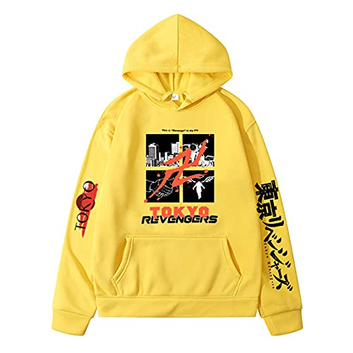FIHTRY Tokyo Revengers Sudadera Hombres/Mujeres.-A_XL