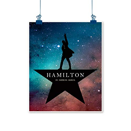 STTYE Hamilton (Broadway) Art Prints Watercolor Starry Texture Background Modern Family Bedroom Decoration Poster red Blue 24x36 Inch