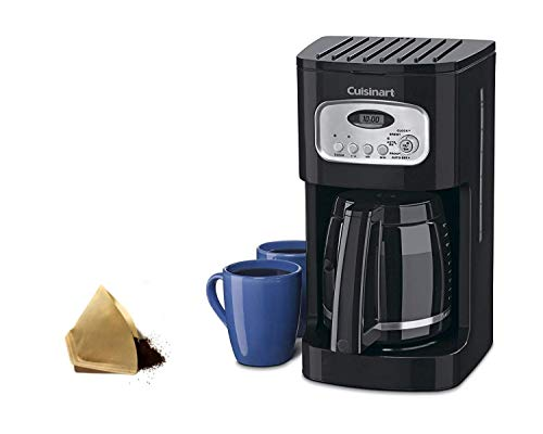 Cuisinart DCC-1100BK 12-Cup Coffeemaker, Black With Filters