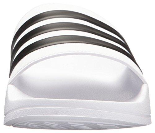 adidas Adilette Shower Stripes, Chanclas Hombre, Blanco/Negro 02, 43 EU