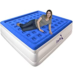 30-DAY MONEY BACK GUARANTEE PLUS AN UNHEARD OF 2-YEAR WARRANTY WITH LIFETIME SUPPORT: 2019 NEWLY UPGRADED King Air Mattress with 2 MIN 30 SEC Built-In PUMP TECHNOLOGY - EnerPlex King Size Air Mattress offers an inflatable airbed and a one of a kind b...