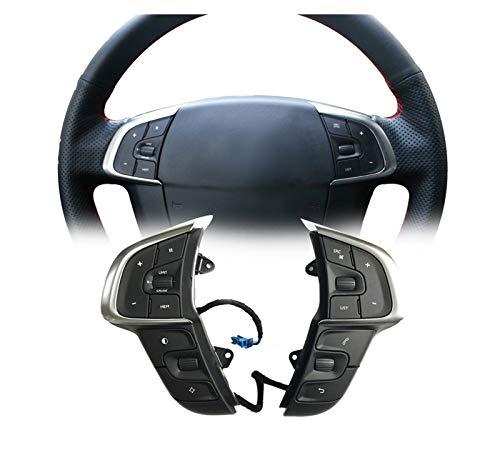 XINGFUQY Multifunción Bluetooth Cruise Control Director de Volante Música Audio Volumen Ajuste Interruptor Auto Accesorios Ajuste para Citroen C4 DS4