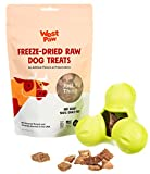 West Paw Dog Chew Toy and Puppy Training Treats Bundle, Zogoflex Tux Treat Dispensing Dog Chew Toy, Granny Smith, Large and Beef Heart Freeze-Dried Raw Dog Treats, Made in USA