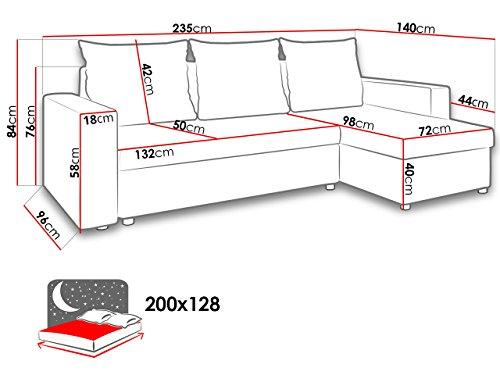 Ecksofa Couch –  günstig Mirjan24 Top  Microfaser 07 Bild 2*